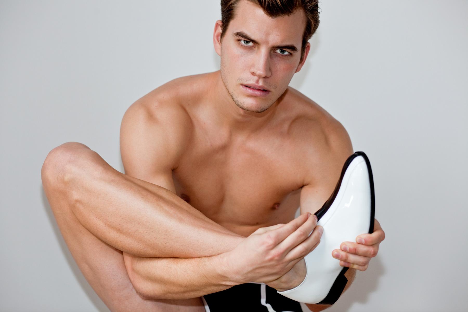 Richard Rabold at NumberOne Models Group and Hungarian designer Julia Kaldy's latest shoe design